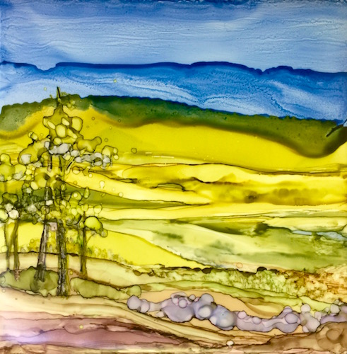 Hand Painted Ceramic Tile, by Jane Brennan, classes offered